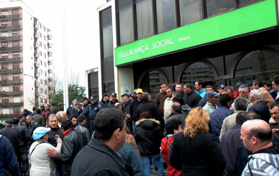 Protesto ontem em Braga (ovilaverdense.com)