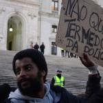 Manifestação contra a violência policial convocada  pela SOS Racismo depois dos acontecimentos na esquadra de Alfragide